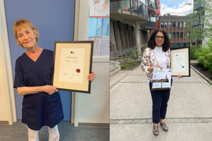 Sara Hammerstad og Ingrid Norheim mottar Thyra- og ærespris